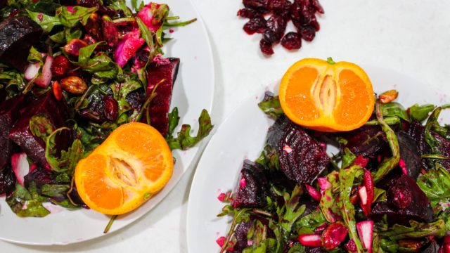 Beet Pistachio and Goat Cheese Salad