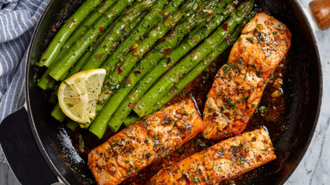 Sweet Heat Salmon with Roasted Asparagus