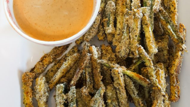 Crispy Zucchini Fries. Metabolic, Keto, Healthy!