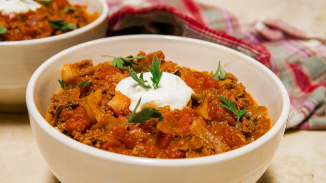 Hearty and Delicious Chili Con Carne. Low-Carb, Metabolic, No Beans!