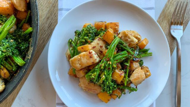 Healthy Chicken Satay Stir Fry