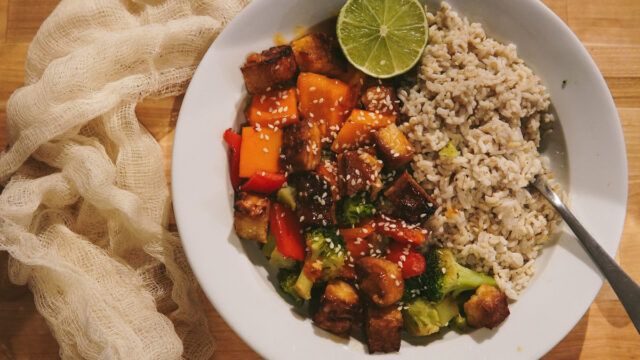 Simple Sheet Pan Chinese Chicken (or Tofu!)