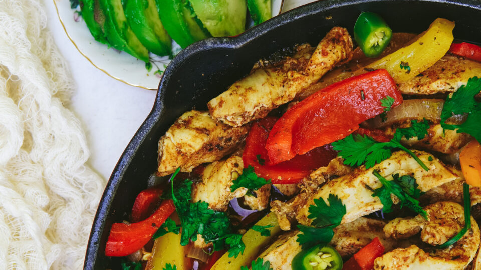 Sheet Pan Chicken and Fiesta Vegetables