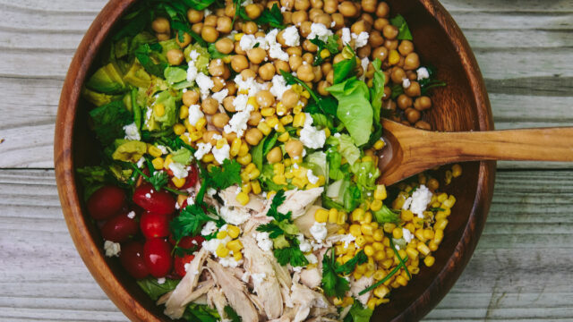 Chopped Chicken Chickpea Salad