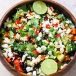 Loaded Mexican Salad with Zesty Lime Dressing